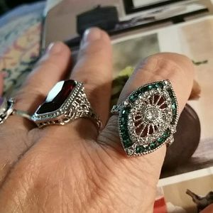 Jewelry - Victorian Sapphire & Emerald ring